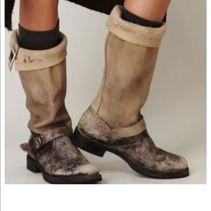 FRYE Veronica Distressed Slouch Tall Boots